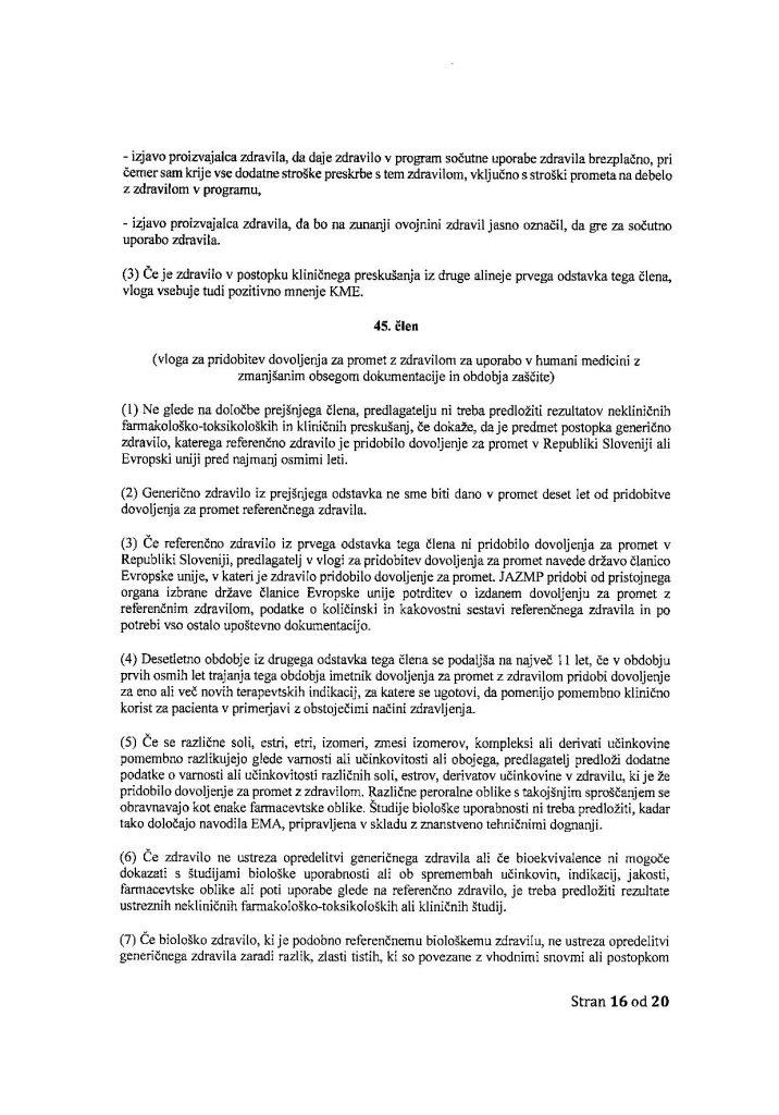 Vložitev predloga zakona - Za varnost cepiv